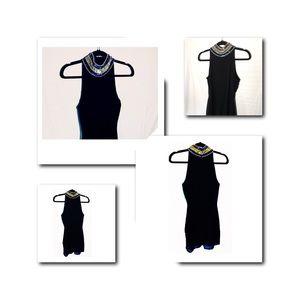 Lulu's Sequin collar Mini Dress. Black, S